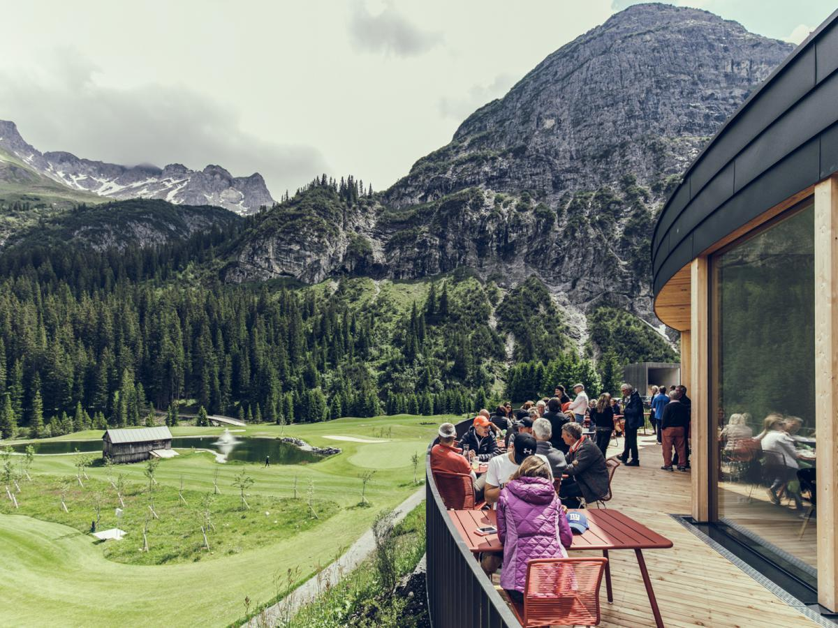 Golf Clubhaus in Lech